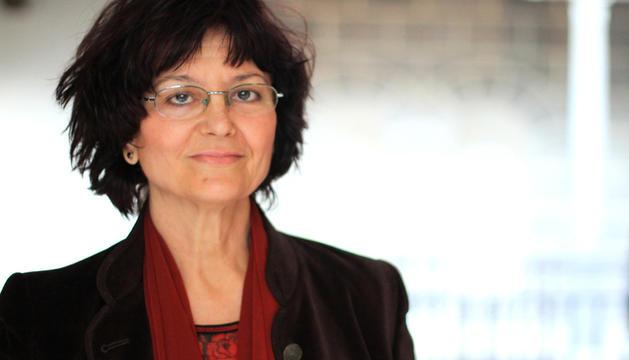 La poetessa Ángeles Mora.