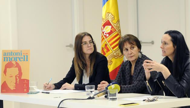 Sílvia Riva, Roser Suñé i Olga Molné han presentat els actes d'homenatge a Morell