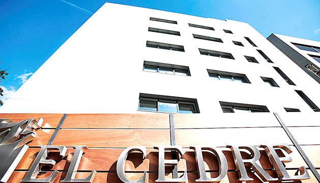 L'entrada del centre sociosanitari El Cedre.