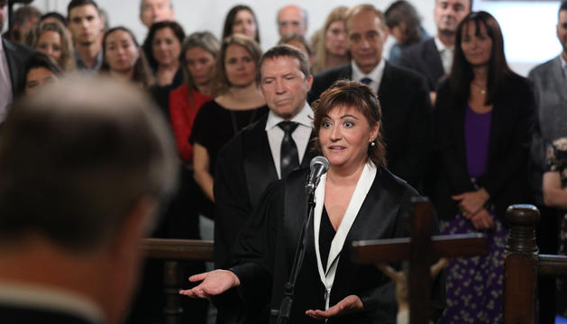 La batlle Maria Àngels Moreno.