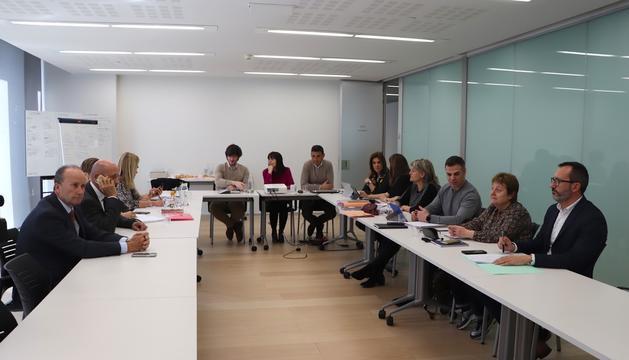 La reunió dels grups parlamentaris de la coalició amb el grup de treball interministerial