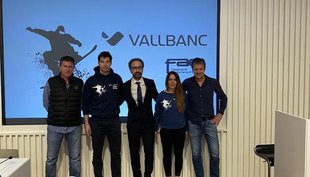 Lluís Marín ha anunciat que no competirà més a una roda de premsa a Vallbanc