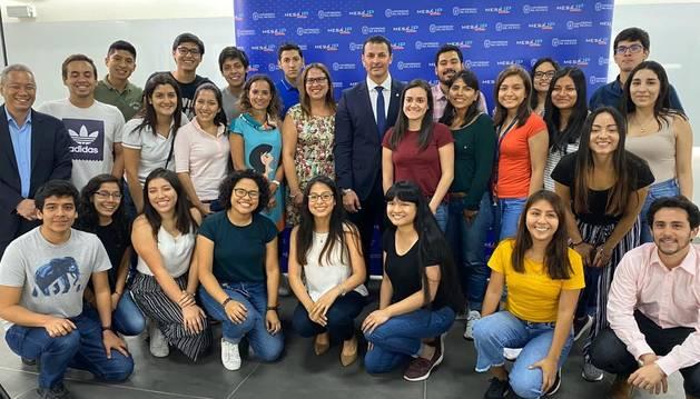 Gallardo ha estat convidat a una taula redona amb els alumnes de la facultat d'Enginyeria de la UP