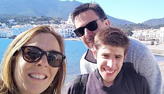 El Pep amb els seus pares.