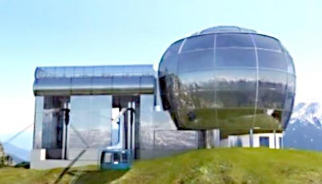 Imatge virtual del telefèric del pic de Carroi.
