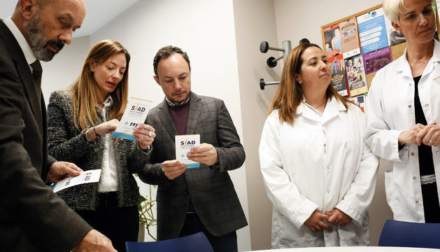 Joan M. Benazet, Helena Mas i Xavier Espot amb part del grup de treball del SIAD avui