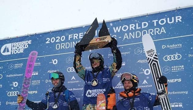 Guanyadors en la categoria de surf de neu al Freeride World Toour