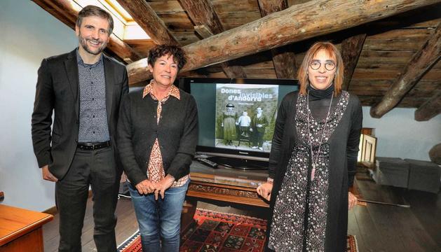 Presentació d'aquest matí de l'estudi 'Dones invisibles d'Andorra', de Magda Mata al Museu fàbrica Reig