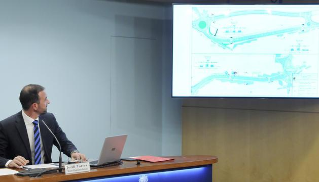 Jordi Torres ha presentat el funcionament del tram 1 de la desviació de Sant Julià