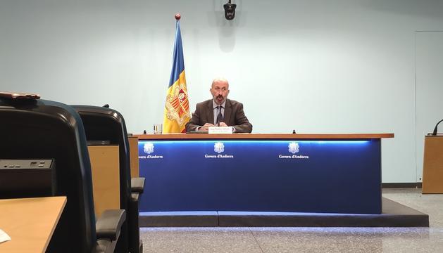 Martínez Benazet ha anunciat una analítica negativa del jove amb coronavirus