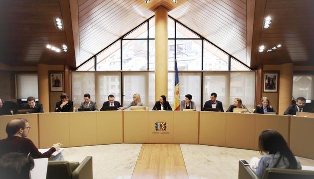 Un moment del consell de comú de la Massana celebrat avui