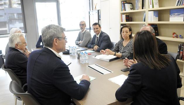Reunió entre CEA i el ministre Jordi Gallardo