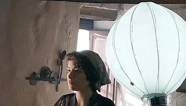 L'actriu Aida Folch al rodatge.