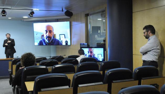 La roda de premsa de Martínez Benazet ha tornat a ser per videoconferència