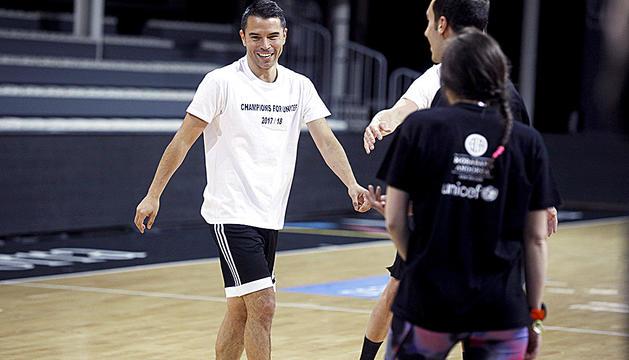 Javier Saviola, en un 'Champions for Unicef' anterior.