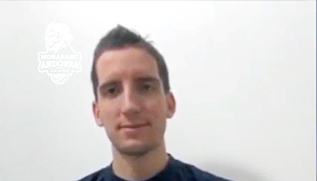 Guille Colom durant l'entrevista.