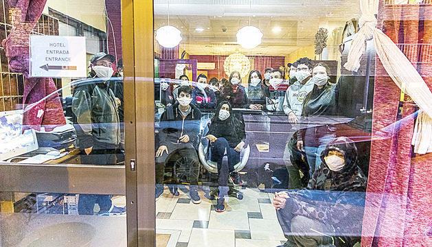 Els temporers que s'allotgen a l'hotel Alfa d'Encamp.