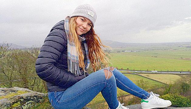 Francesca Guasch a Escòcia.
