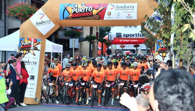 Sortida de l'edició de l'any passat de La Purito Andorra.