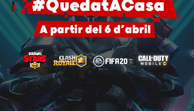 Cartell del torneig #quedatacasa que comença el dilluns.