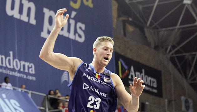 David Walker, en un partit d'aquesta temporada amb el MoraBanc Andorra.