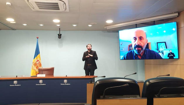 El ministre de Salut compareix a través de videoconferència.