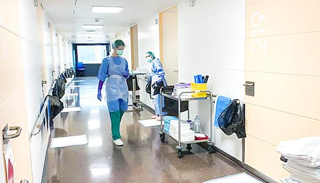 Imatge de l'interior de l'hospital de Meritxell.