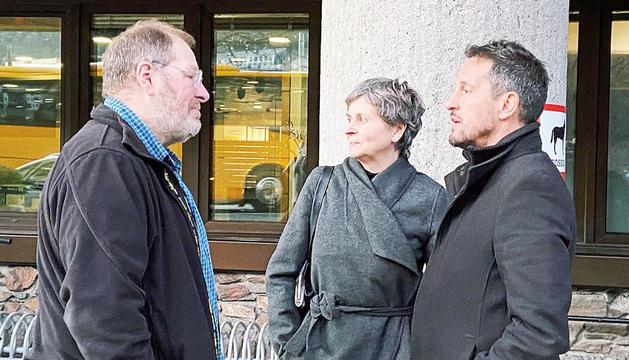 Els consellers Jordi Font, Susanna Vela i Pere López.