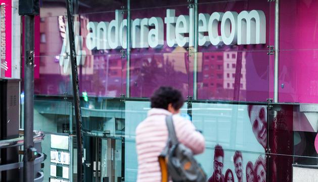 Les oficines d'Andorra Telecom ahir a la tarda.
