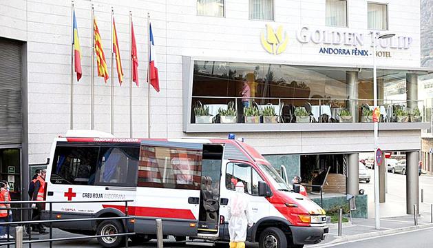 Trasllat de padrins a l'hotel Fènix d'Escaldes-Engordany.