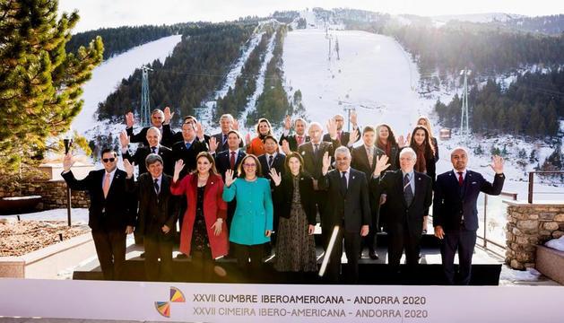 Una de les reunions de la Cimera Iberoamericana del 2020, celebrada a Soldeu.
