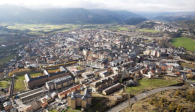 Una vista de la Seu d'Urgell.