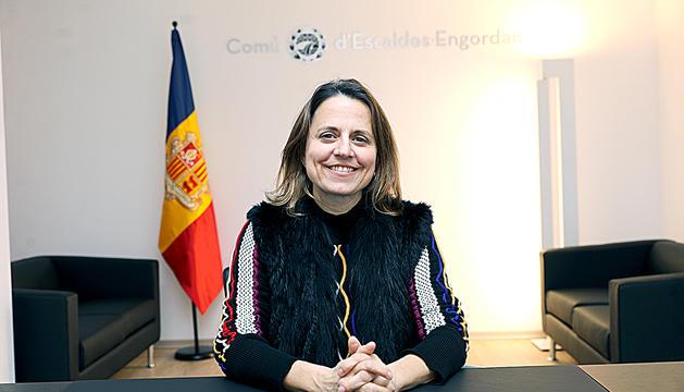 La cònsol major d'Escaldes-Engordany, Rosa Gili.