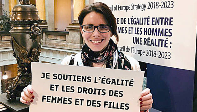 La cap de l'àrea de polítiques d'igualtat, Mireia Porras