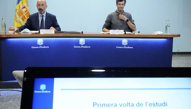 Joan Martínez Benazet i Joel López a la roda de premsa