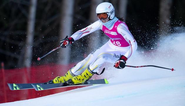 Carla Mijares, durant una prova dels Jocs Olímpics de Lausana.