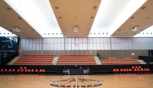 L'Alquería del Basket del València està situada al costat de la Font de Sant Lluís.