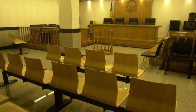 La sala tres de la Seu de la Justícia.