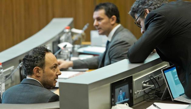 Govern en una sessió de Consell General