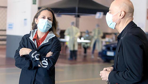 Gili a l''Stop Lab' escaldenc on s'han fet els tests per detectar persones amb coronavirus, ahir.