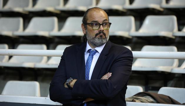 El director general del MoraBanc Andorra, Francesc Solana, durant un partit.