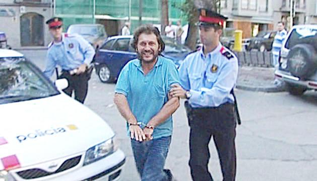 El Rambo de la Cerdanya en una de les darreres detencions.