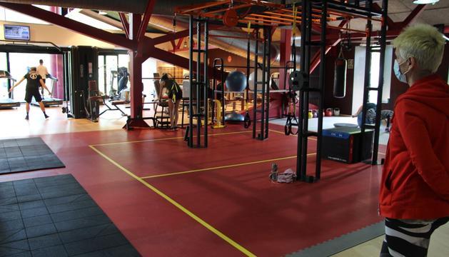 El gimnàs del Centre esportiu d'Ordino aquest matí