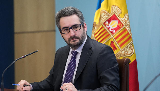 El ministre de Finances, Eric Jover.