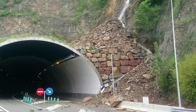 L'entrada al túnel del Bordar