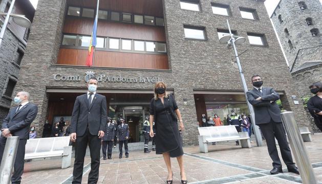 Minut de silenci al comú d'Andorra la Vella.
