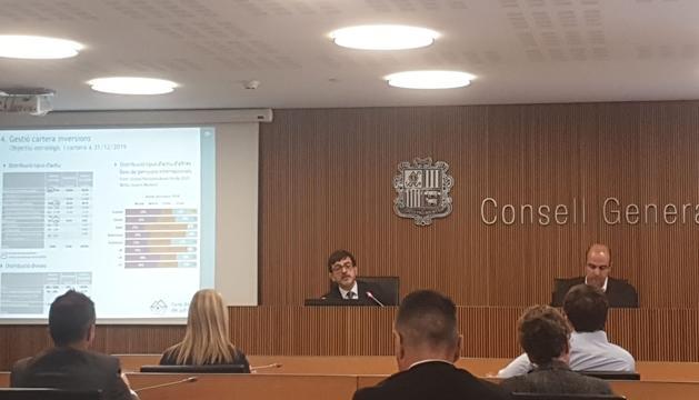 Jordi Cinca en la compareixença al Consell General