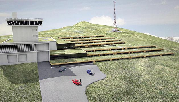 Imatge de com serà el futur Cramea que s'ubicarà a l'antic edifici de Sud Radio, al port d'Envalira.
