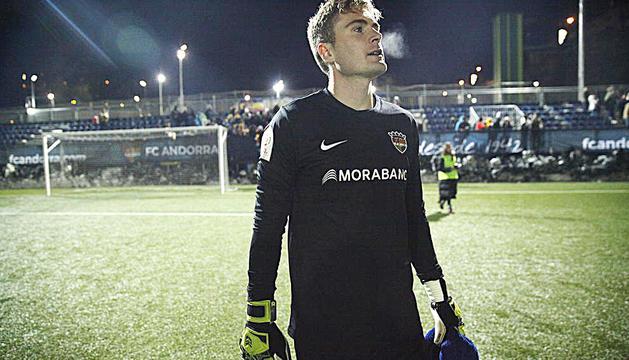 Bañuz, després del partit de Copa contra el Leganés.