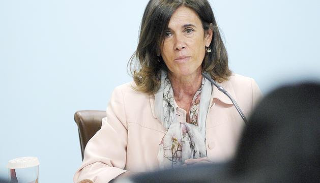 La ministra d'Educació i Ensenyament Superior,Ester Vilarrubla, ahir al matí.